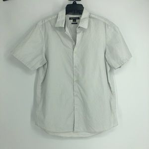Michael Kors white shirt sleeve dotted button up